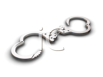 Royalty Free Clipart Image of a Handcuff