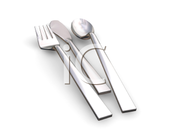 Royalty Free Clipart Image of a Cutlery