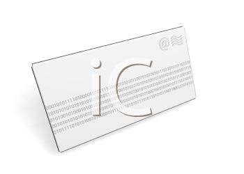 Royalty Free Clipart Image of an Envelope With Binary Code