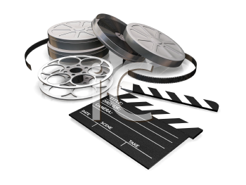 Royalty Free Clipart Image of a Film Reels