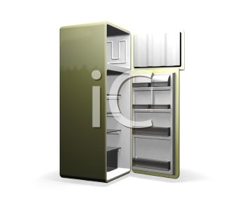 Royalty Free Clipart Image of a Modern Fridge