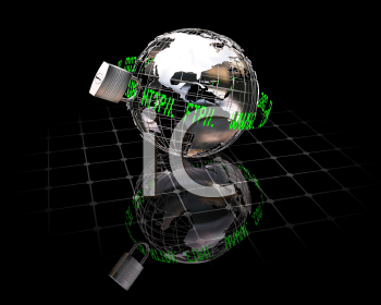 Royalty Free Clipart Image of Internet Security