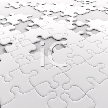 Royalty Free Clipart Image of a Puzzle With Missing Pieces