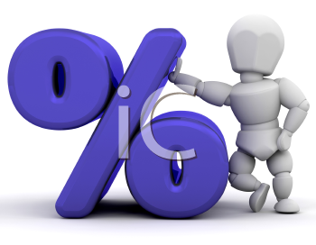 Royalty Free Clipart Image of a Percent Beside a Percent Symbol