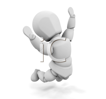 Royalty Free Clipart Image of a Person Jumping