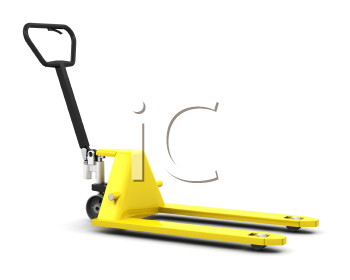 Royalty Free Clipart Image of a Pallet Truck