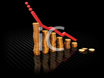 Royalty Free Clipart Image of a Rising Profits Chart