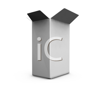 Royalty Free Clipart Image of an Open Box