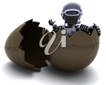 3D Render of a Robot with an easter egg