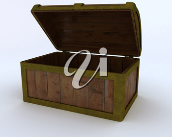 3D render of a Pirates treasure chest