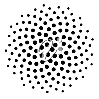 Computer generated dot spiral pattern background. Use as mask or design element.