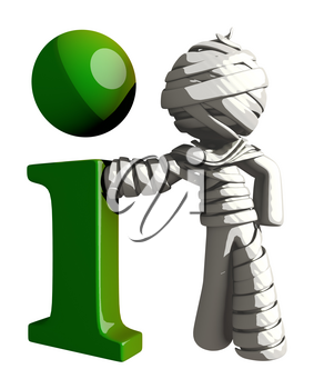 Mummy or Personal Injury Concept Large Info Symbol