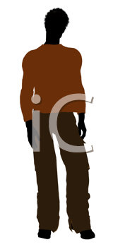 Royalty Free Clipart Image of a Man in a Sweater