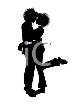 Royalty Free Clipart Image of a Young Couple