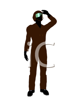 Royalty Free Clipart Image of a Guy in a Flight Suit