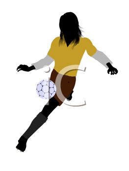 Royalty Free Clipart Image of a Female Soccer Player