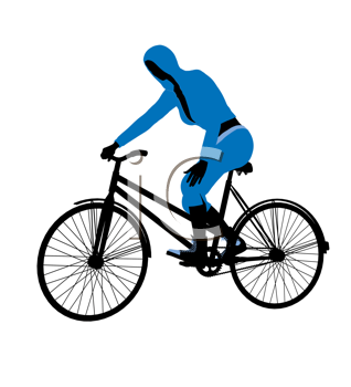 Royalty Free Clipart Image of a Cyclist