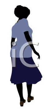 Royalty Free Clipart Image of an Older Woman