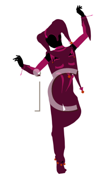 Royalty Free Clipart Image of a Jester