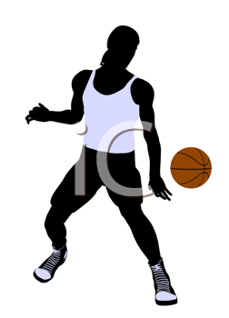 Royalty Free Clipart Image of a Basketball Player
