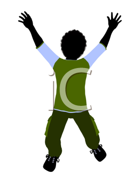 Royalty Free Clipart Image of a Boy Jumping