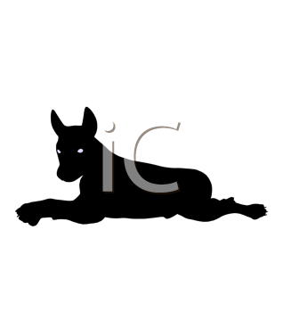 Royalty Free Clipart Image of a Dog