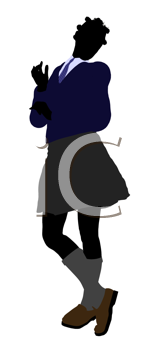 Royalty Free Clipart Image of a Girl in a Uniform