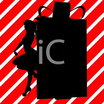 Royalty Free Clipart Image of a Container