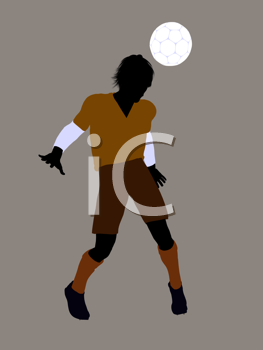 Royalty Free Clipart Image of a Soccer Player
