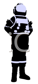 Royalty Free Clipart Image of an Astronaut
