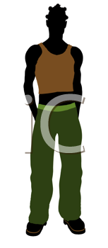 Royalty Free Clipart Image of a Casual Man