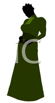 Royalty Free Clipart Image of a Victorian Gown