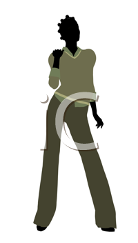 Royalty Free Clipart Image of a Female Silhouette