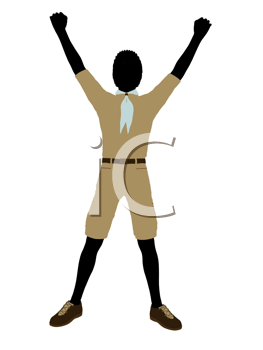 Royalty Free Clipart Image of a Boy Scout