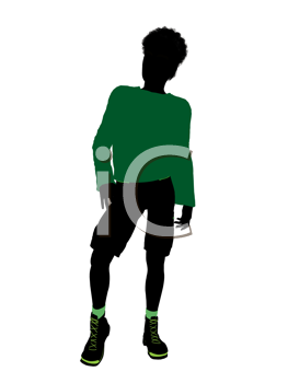 Royalty Free Clipart Image of a Young Boy