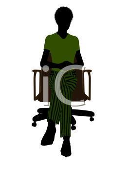 Royalty Free Photo of a Woman in a Chair