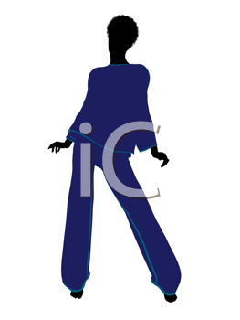 Royalty Free Clipart Image of a Woman in Lingerie