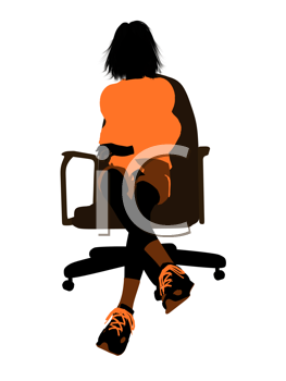 Royalty Free Clipart Image of a Person in a Chair