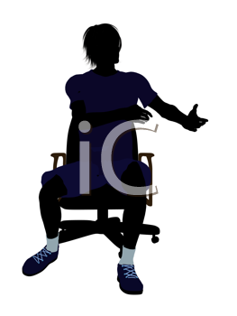 Royalty Free Clipart Image of a Guy in a Chair