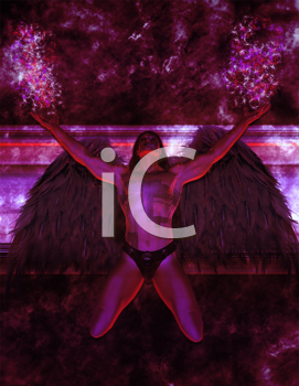 Royalty Free Clipart Image of an Archangel