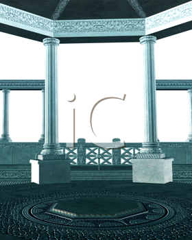 Royalty Free Clipart Image of Columns