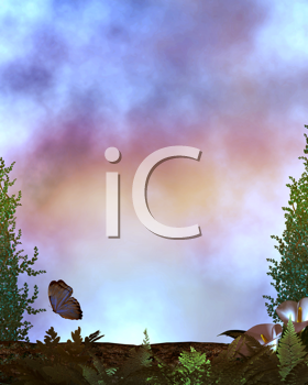 Royalty Free Clipart Image of an Fantasy Forest