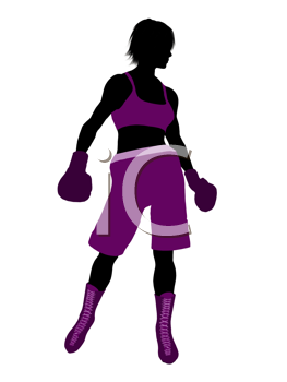 Royalty Free Clipart Image of a Female Boxer
