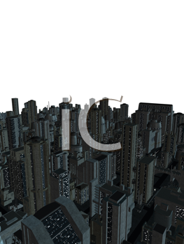 Royalty Free Clipart Image of a Cityscape