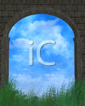 Royalty Free Clipart Image of an Outdoor Background
