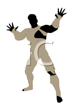 Royalty Free Clipart Image of a Male Mummy