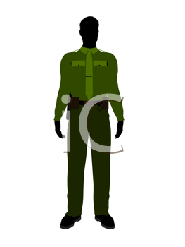 Royalty Free Clipart Image of a Sheriff