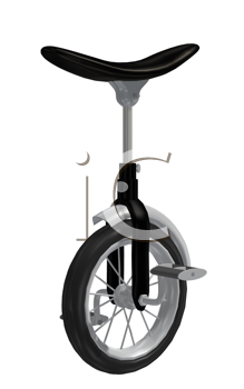 Royalty Free Clipart Image of a Unicycle
