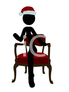 Royalty Free Clipart Image of a Stick Figure in a Chair