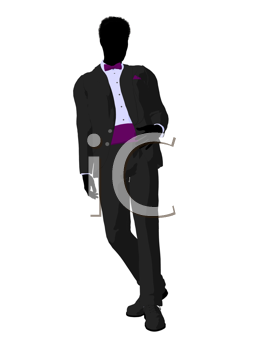 Royalty Free Clipart Image of a Bridegroom